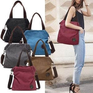 Women Canvas Shoulder Bag Satchel Purse Handbag